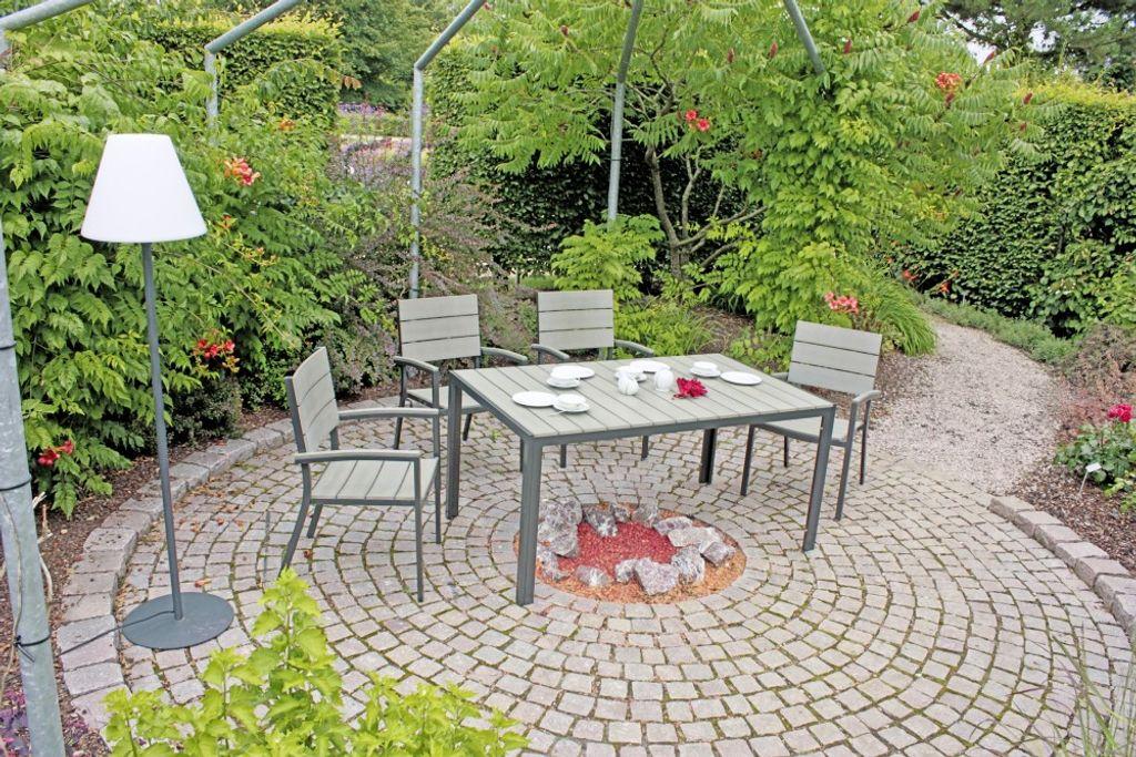 ,wetterfeste Gartenm/öbel WPC Silbern Tidyard Garden Stapelbare Gartenst/ühle 2er Set Gartenstuhl,Stabile Aluminium Bistrost/ühle stapelbar Stapelstuhl 54 x 58 x 73 cm B x T x H