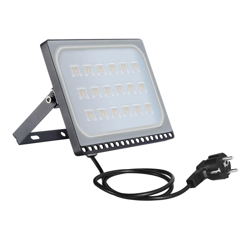 100W LED Flutlicht Fluter Außen Strahler Scheinwerfer Garten Warmweiß IP65 SMD