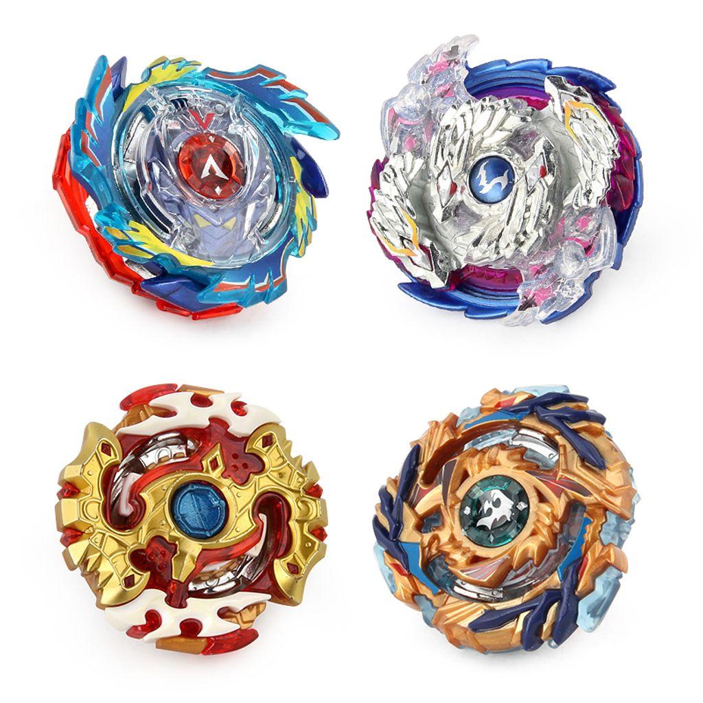 Tubayia 4 St/ück 4D Kampfkreisel Kreisel mit Launcher f/ür Kinder P/ädagogisches Spielzeug Geschenk