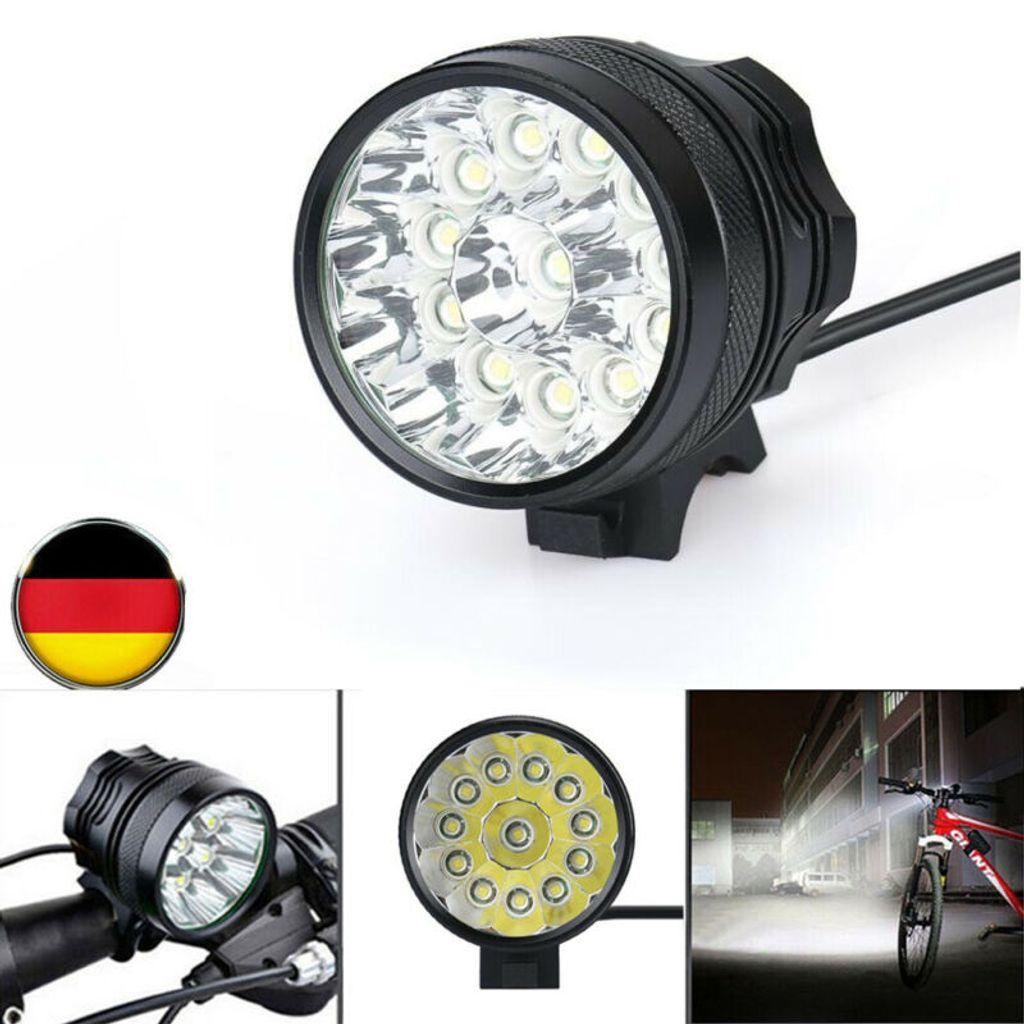 LED Fahrradlampe Fahrrad Licht USB Fahrradbeleuchtung Scheinwerfer Lampe 3 Modi