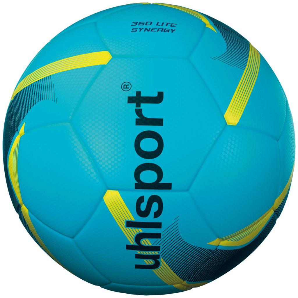 Uhlsport Fußball 350 Lite Synergy Training Spielball Kinder blau schwarz gelb