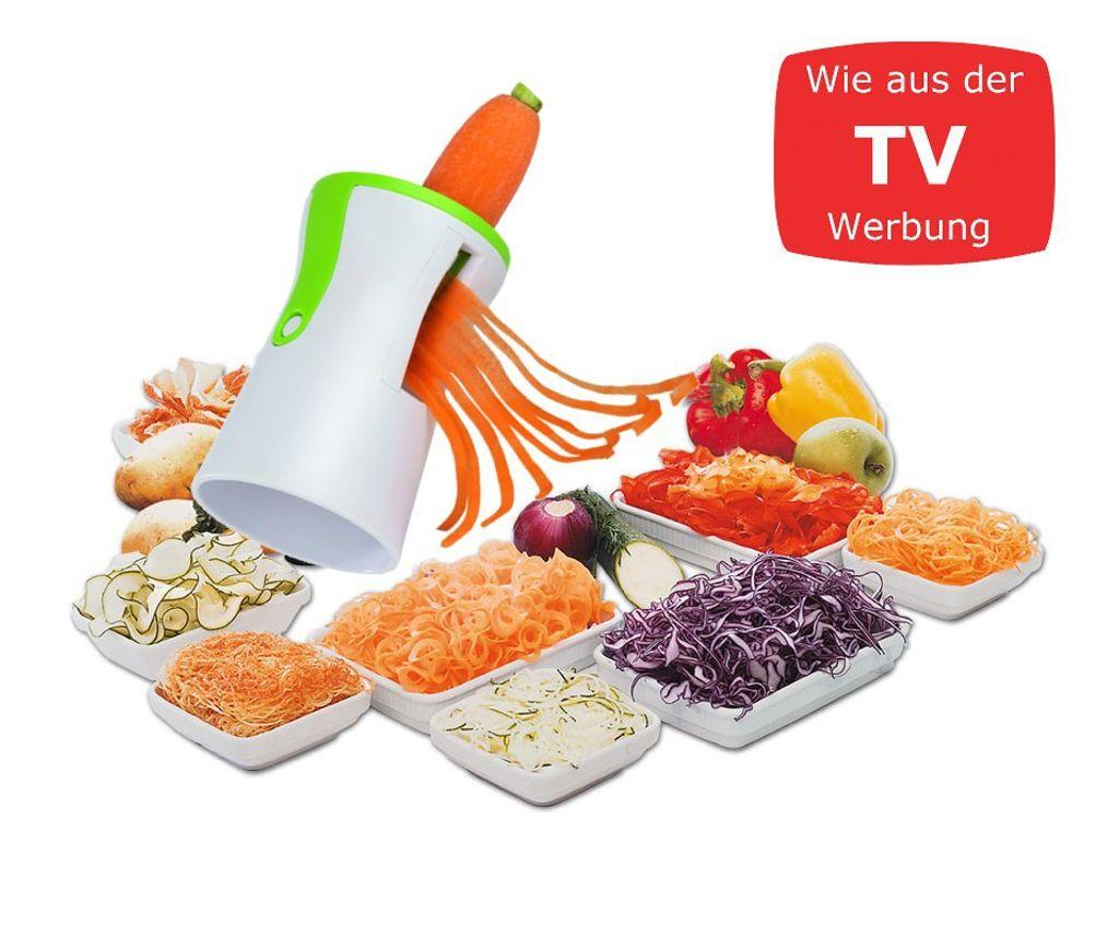 GOURMETmaxx Spiralschneider Gemüse Schäler Slicer Nudel Gemüseschneider