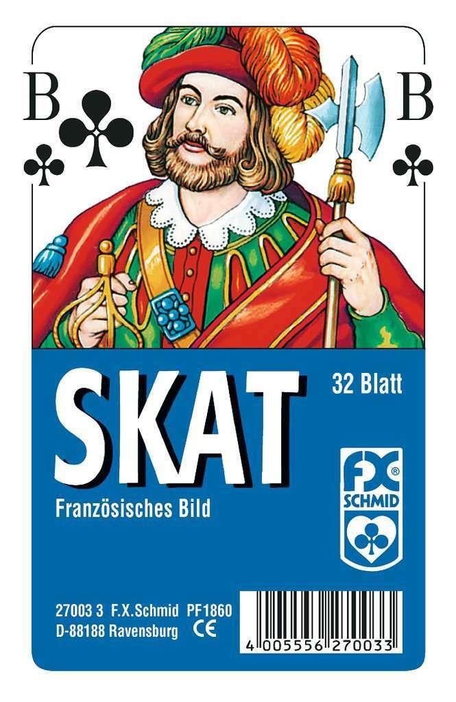# 7x 32 Blatt SKAT Karten französisches Bild Nürnberger Skatspiel NSV