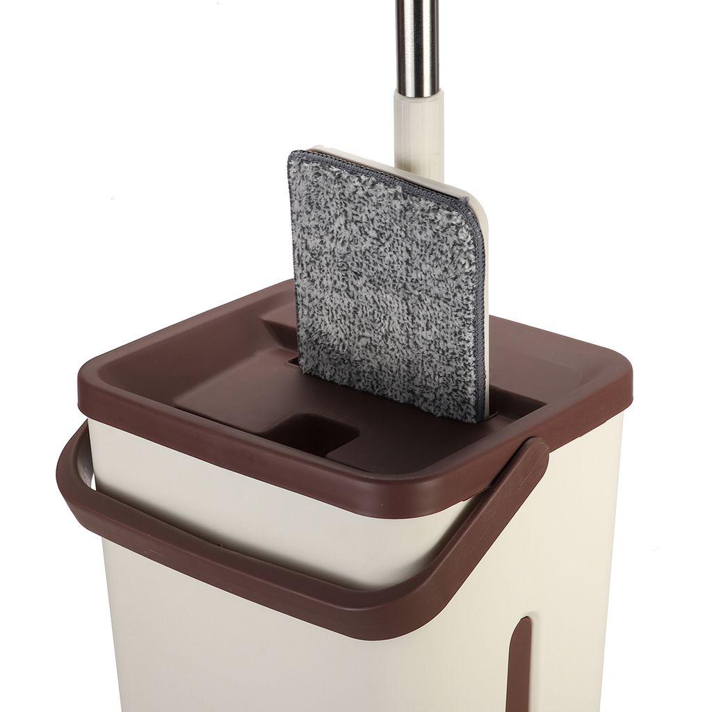 Wischmop Mopp Bodenwischer 360°Teleskopstiel Mopp 10 Mikrofaserpad Putzlappe Kit