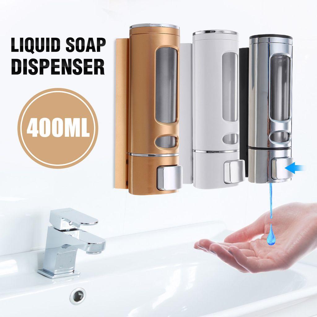 20ml Wandhalterung Flüssigseife Desinfektionsmittel Küche Bad Dusche  Shampoo Dispenser  Weiß