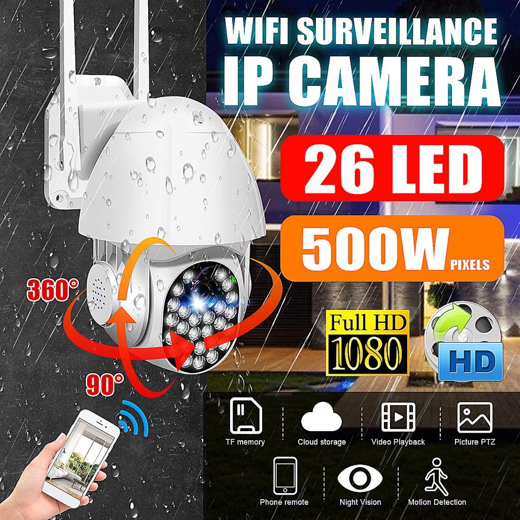 1080P HD IP Netzwerk Camera PTZ Außen Überwachungskamera Outdoor WiFi Funk CCTV