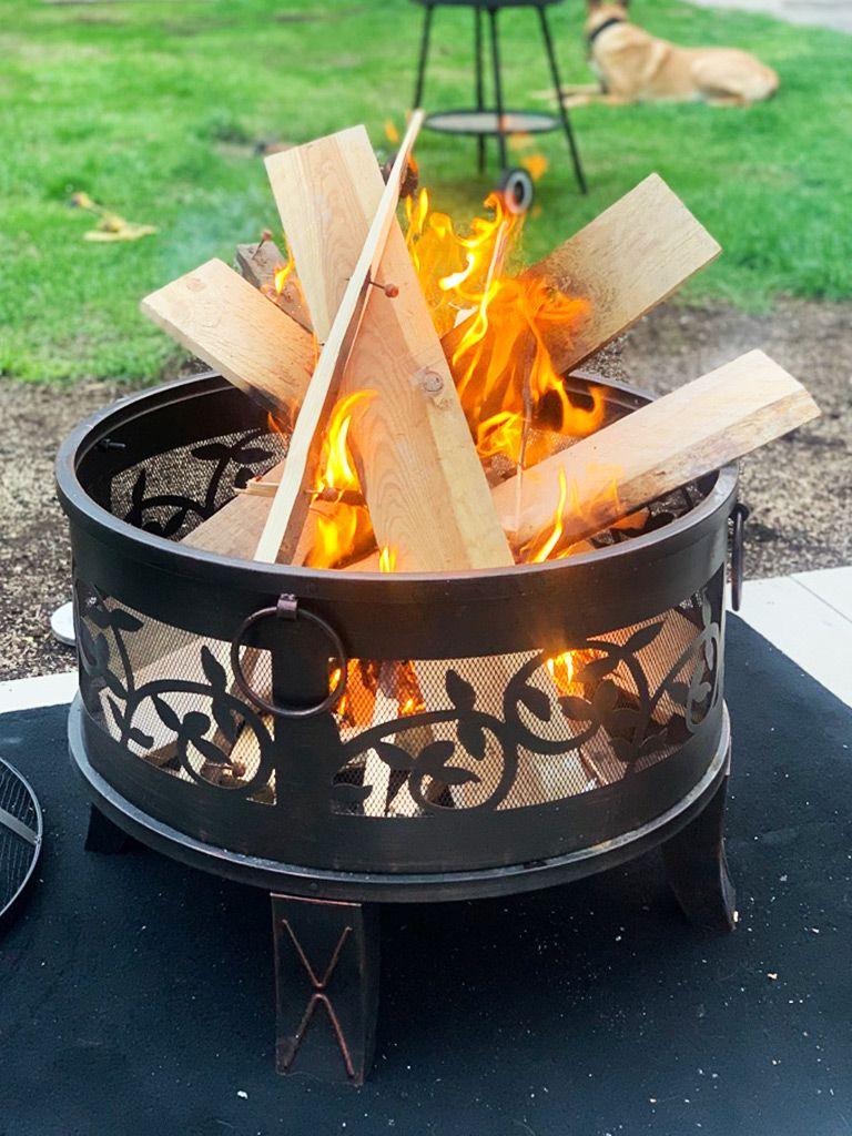 Gardebruk Feuerstelle Feuerschale Rund Ø 20 cm Stahl Funkenschutz Feuerkorb  Grillfeuer Feuer Garten Terrasse Antik Rost