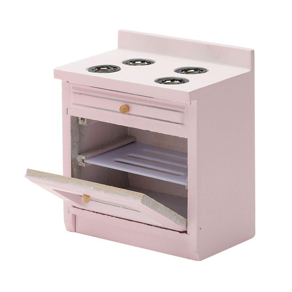 Exceart 1:12 Puppenhaus Miniatur K/ühlschrank Mini Holz K/ühlschrank Puppenhaus M/öbel Zubeh/ör Kinderspielzeug