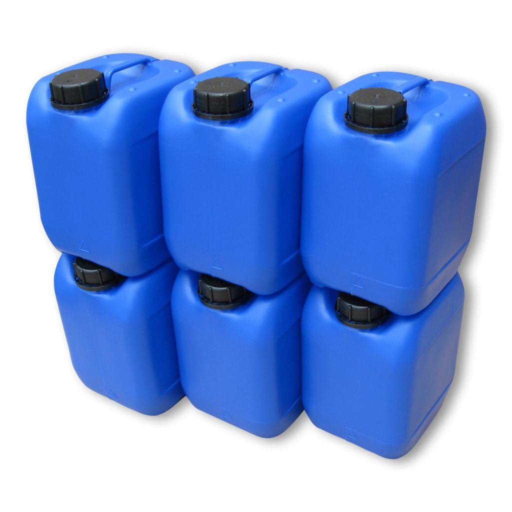 5 St 5 L Kanister Plastikkanister blau palettengerecht lebensmittelecht DIN 51
