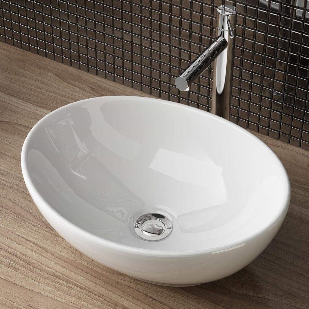 Aufsatzwaschschale Aufsatzwaschbecken Keramik Waschbecken Waschschale  Waschtisch Gäste Bad 20x20x20 cm WS20