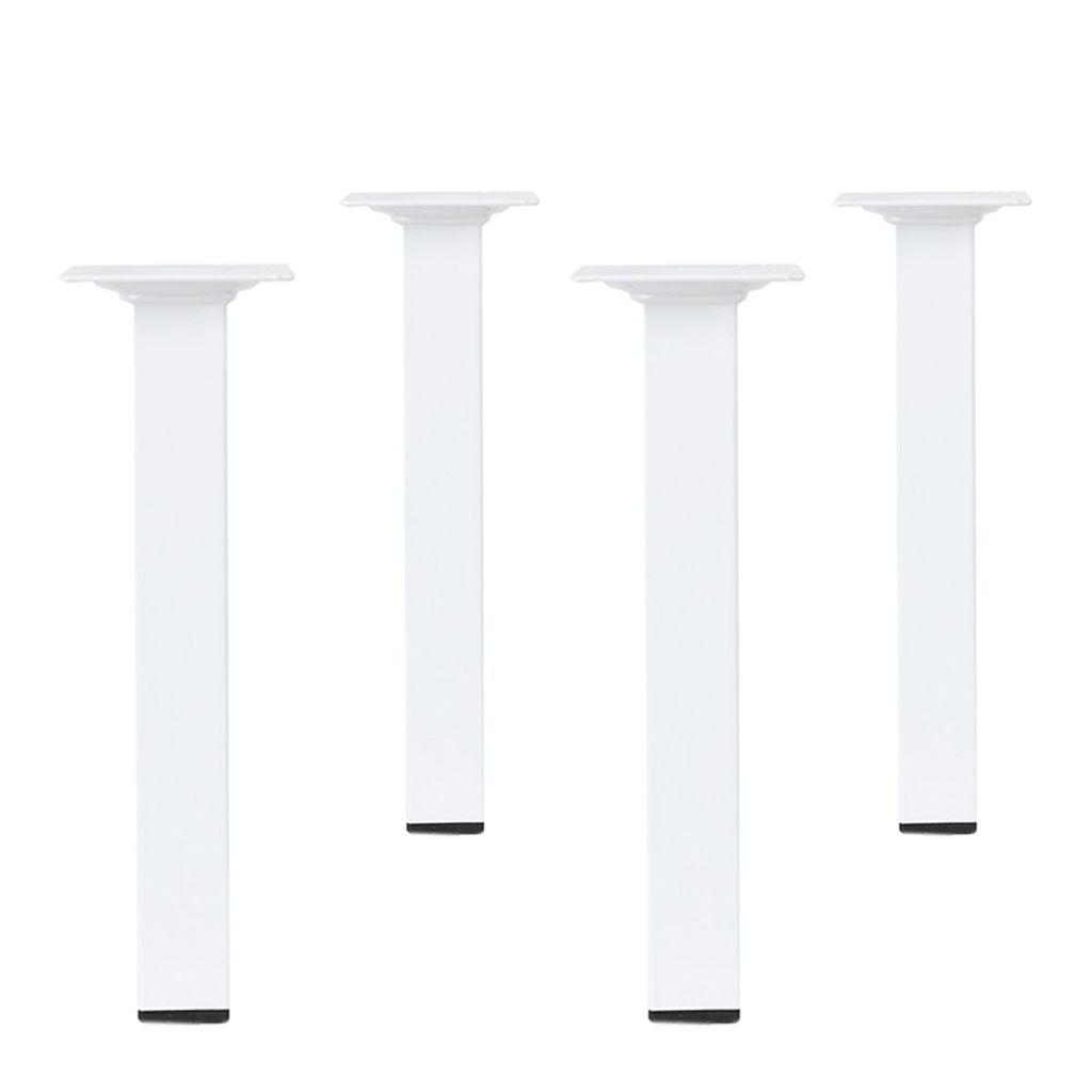 Weiß Tischbein Möbelfuß Viereckig 50cm hoch