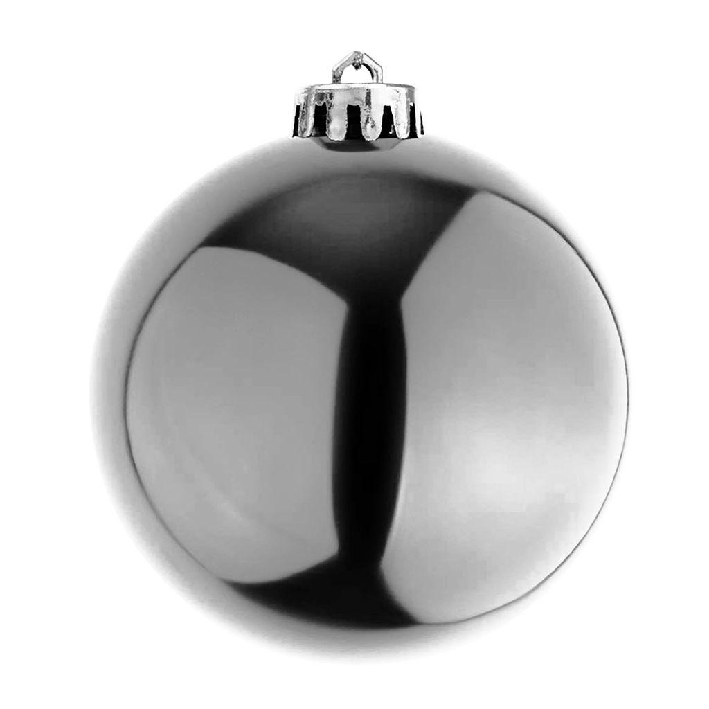 42 x30cm Weihnachtskugel Baumkugel Deko Hängekugel Kunststoff Neu SILBER//SCHWARZ