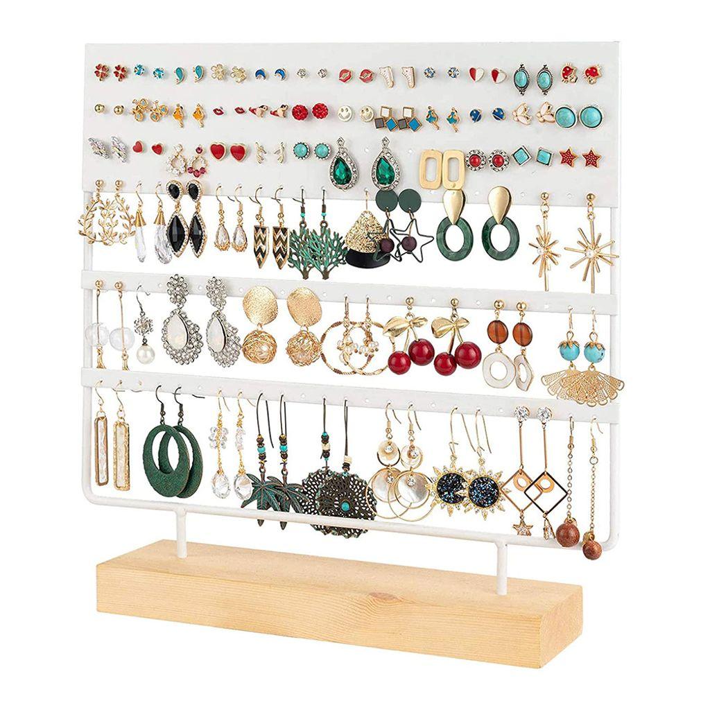 9 Stück Wandständer Schmuckständer Schmuck Organizer Ohrringhalter Kettenhalter