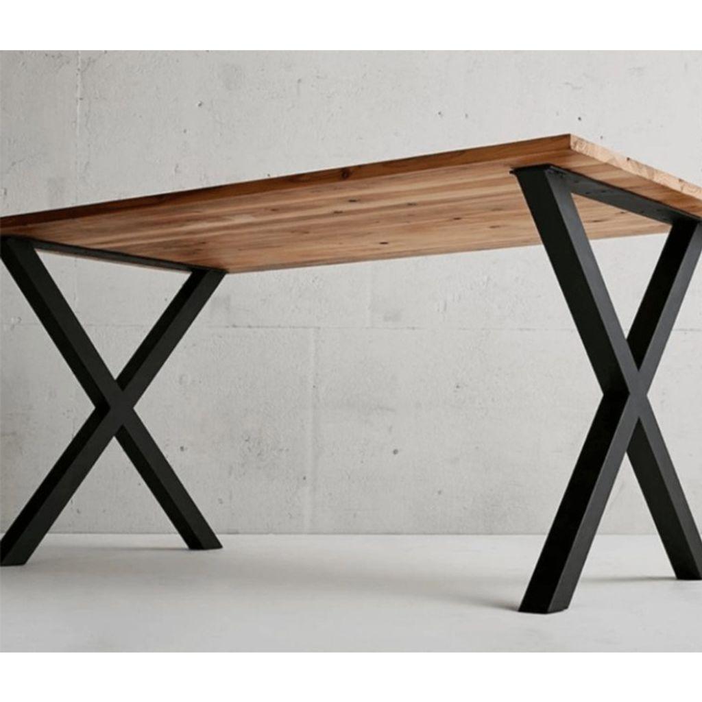 Tischgestell Tischfüße T Tischbeine Tischkufen Stahl Möbelbein 2 Stück