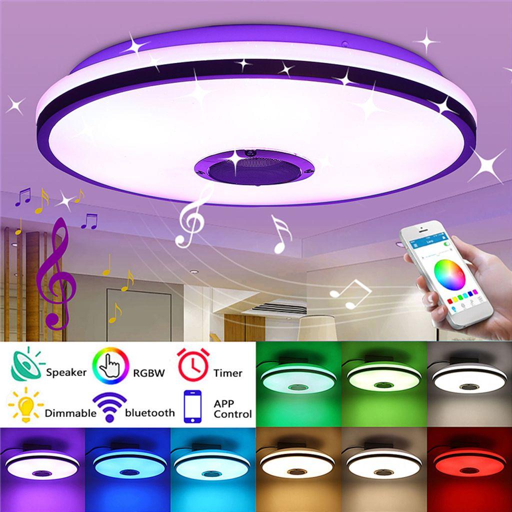 20W Dimmbar RGB LED Deckenleuchte Lampe bluetooth Lautsprecher APP  Steuerung mit Fernbedienung 20 20V Globale Version)