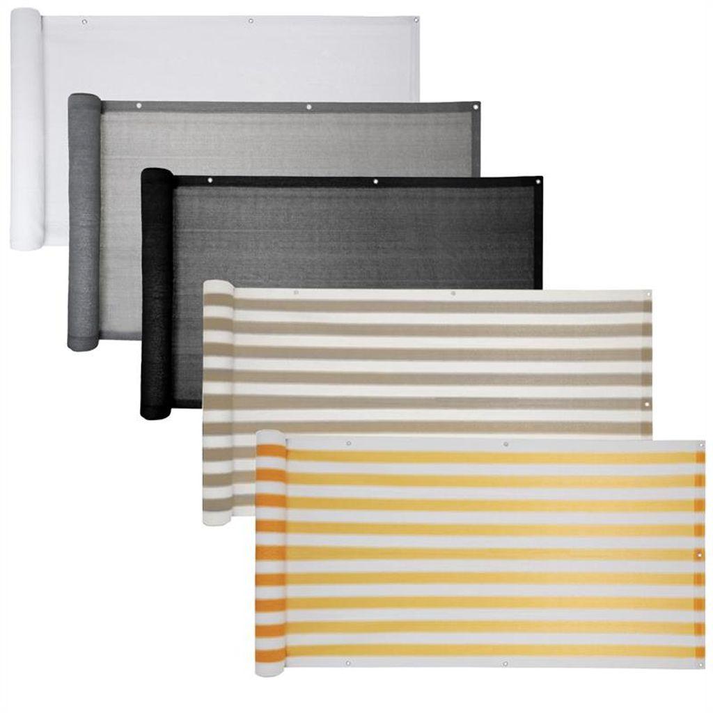 Balkon Sichtschutz Bespannung 8 x 8 cm Wind Sonnen Schutz grau  Verkleidung