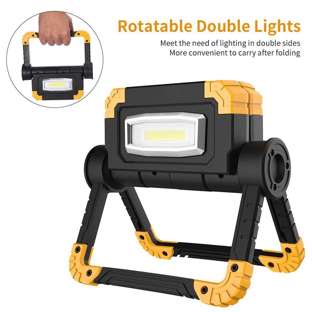 LED Faltbares Arbeitsleuchte Baustrahler Handlampe Flutlicht Fluter Drehung
