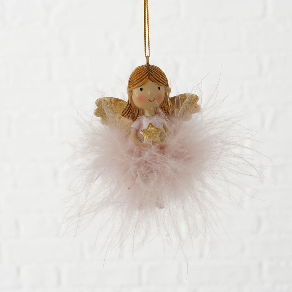 formano Dekohänger Hängedeko Fensterdeko Stern mit Engel aus Metall 18 cm