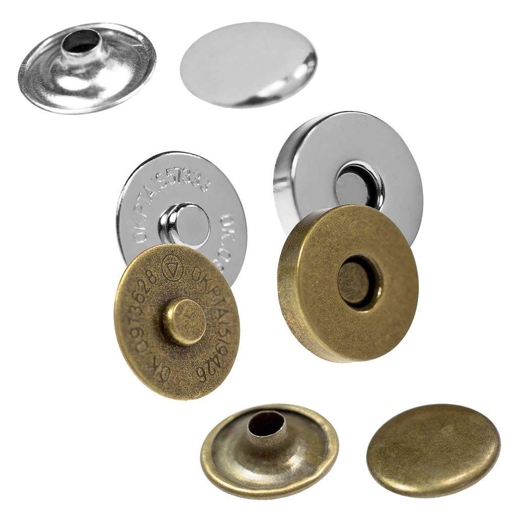 10 Sets Magnetverschluss Geldbörse Schnappverschlüsse Nähknopf Geldbörse