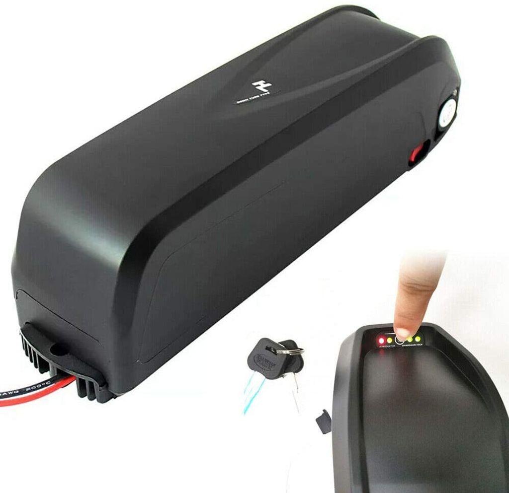 36V//48V E-Bike Akku Li-Ion Elektrofahrrad Batterie Mit Ladegerät Lademodus CC CV