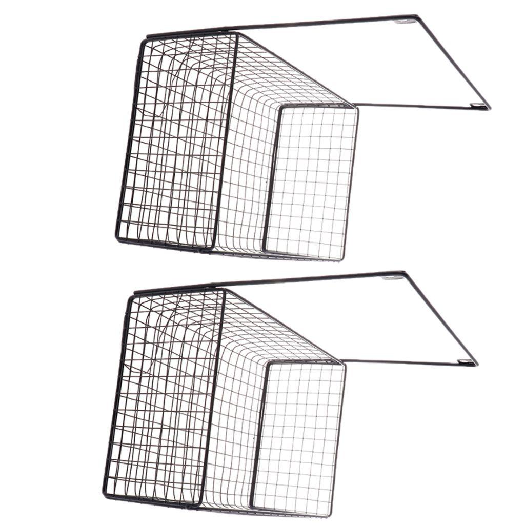 4 Stück Wandgitter Panel Hängekorb Wanddekor Organizer Aufbewahrungskorb