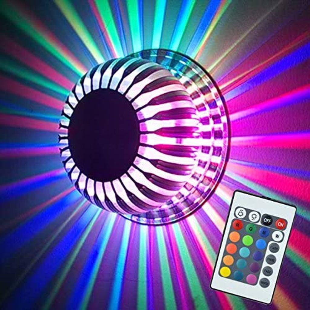 Farbwechsel Deckenlampe Deckenleuchte Wandleuchte 20W LED RGB Lampe Leuchte  Farbwechsel Deckenleuchte mit Fernbedienung Dimmbar Effektlicht Wandlampe