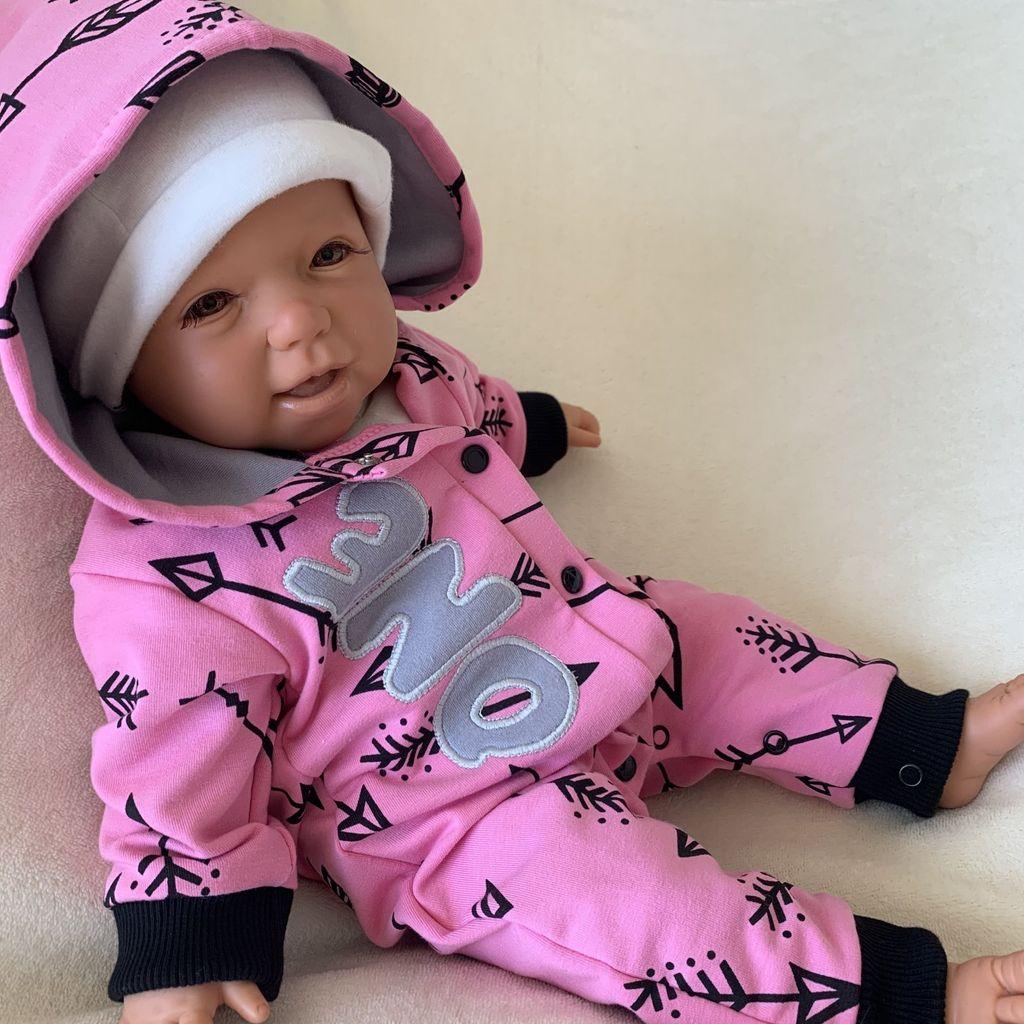 0-24 Monate lange /Ärmel f/ür den Winter f/ür Kinder und M/ädchen Strampelanzug Neugeborene Unisex Jumpsuit f/ür Babys