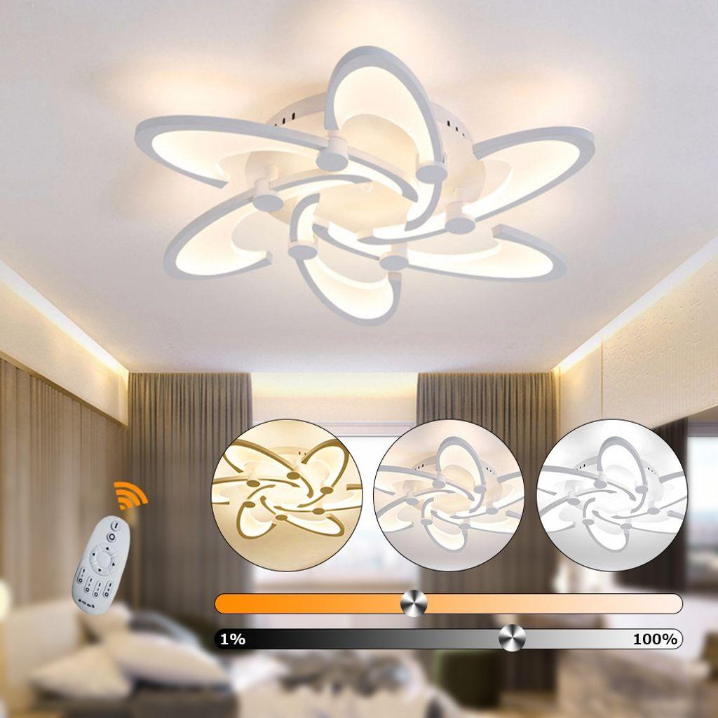 12W Deckenleuchte LED Deckenlampe Dimmbar Lampe Fernbedienung Wohnzimmer  Modern