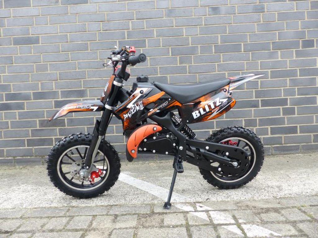 Pocketbike Dirtbike Pocket Cross 49cc Kinder Cross Crossbike KXD 708 Blau