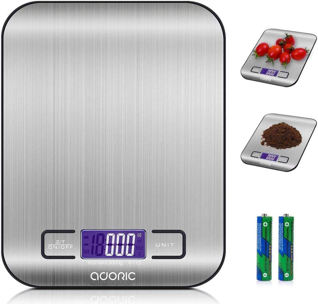 Digitale Küchen Haushalts Waage Backen Kochen Glas LCD-Display Tara Batterie