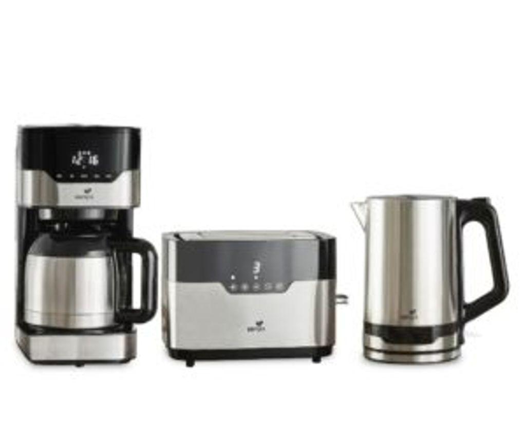 Kaffeemaschine Edelstahl Schwarz Edelstahl für 9 Tassen 900 W Tropfschutz