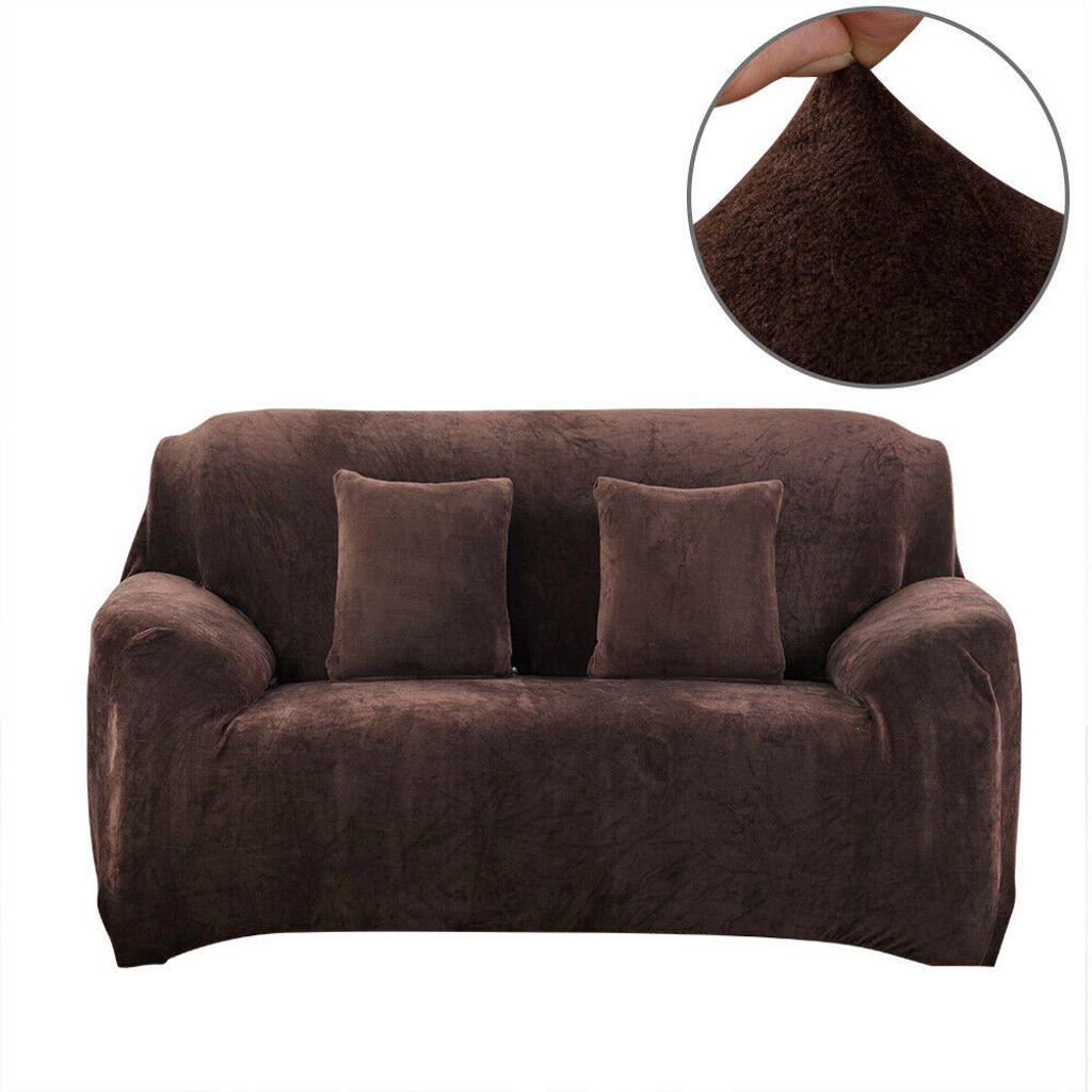 Sofa /überwurf f/ür Sektionssofa 3 Sitzer + 3 Sitzer, Braun Elastische Sofa Abdeckung Couch Schonbezug Komfortabler Stoff mit 2 Kissenbez/ügen 2 St/ück Stretch Sofa /überzug Taiyang Sofabezug L Form
