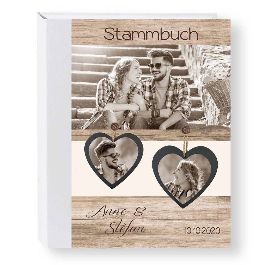 """Stammbuch der Familie /""""Glamour/"""" beige A5 A4 Stammbücher Hochzeit Trauung Trauung"""