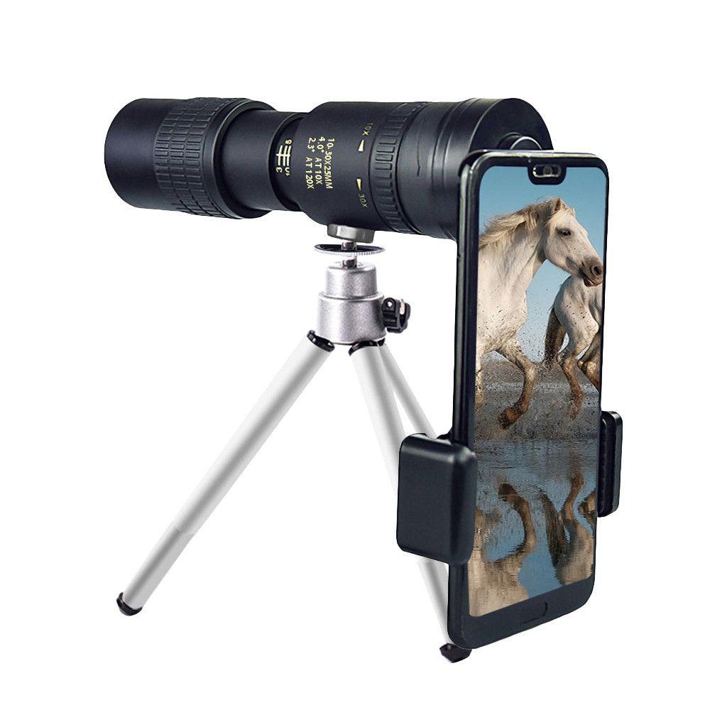 4K 10-300X40mm Super Telephoto Zoom Monokular Teleskop mit Smartphone Adapter Stativ Wasserdicht f/ür Strandreisen Vogelbeobachtung Jagd Camping Wandern Sansund Monokular Fernglas Monokular Teleskop