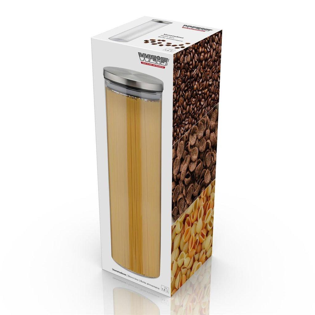 Weis 12 Vorratsdose Spaghettidose 12ml Höhe 12,12cm mit Deckel