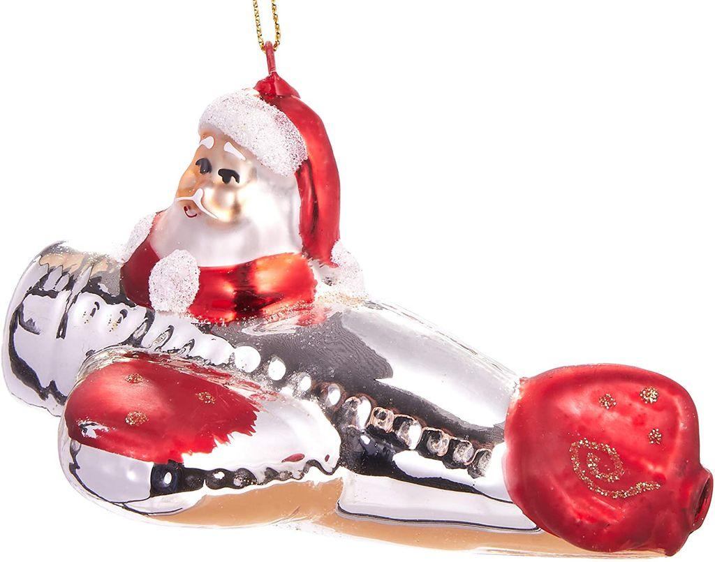 Weihnachtskugeln GLAS 12cm Regenbogen Figur Christbaumkugel Baumschmuck Deko