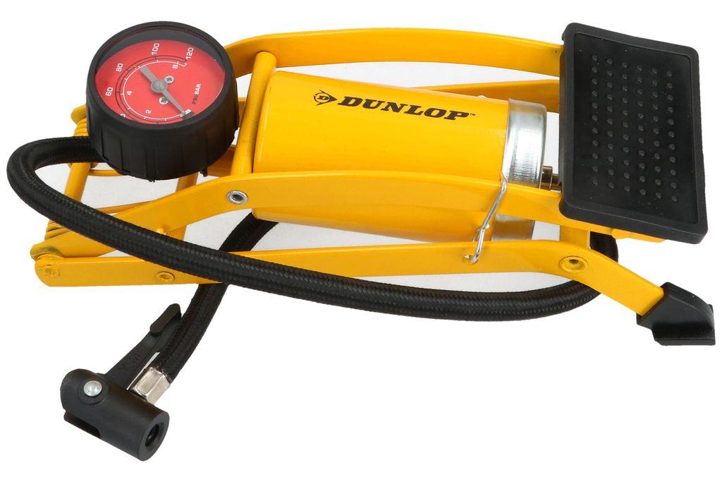 DUNLOP Fußpumpe Luftpumpe Pumpe Fahrradpumpe Autopumpe Standpumpe mit Manometer