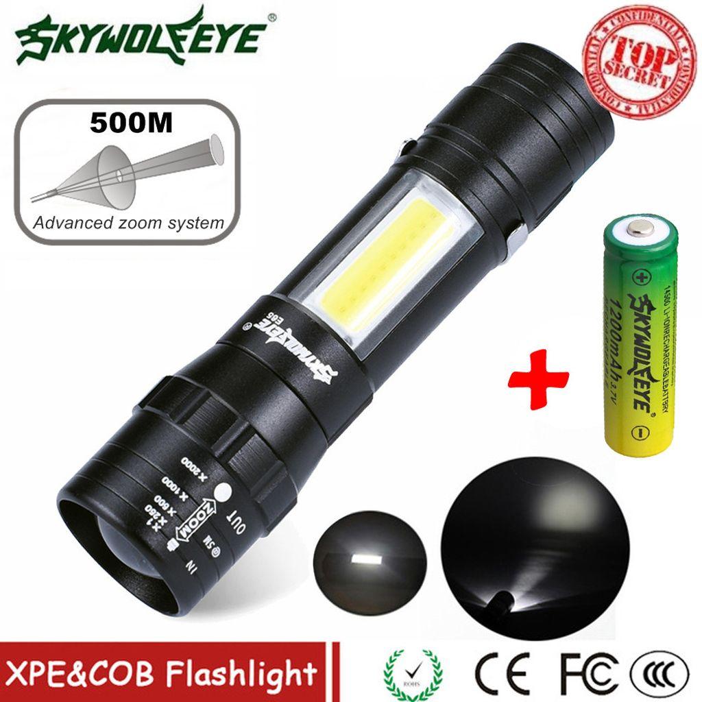zoombar Skywolfeye XPE LED-Taschenlampe 3 Modi Aluminiumlegierung