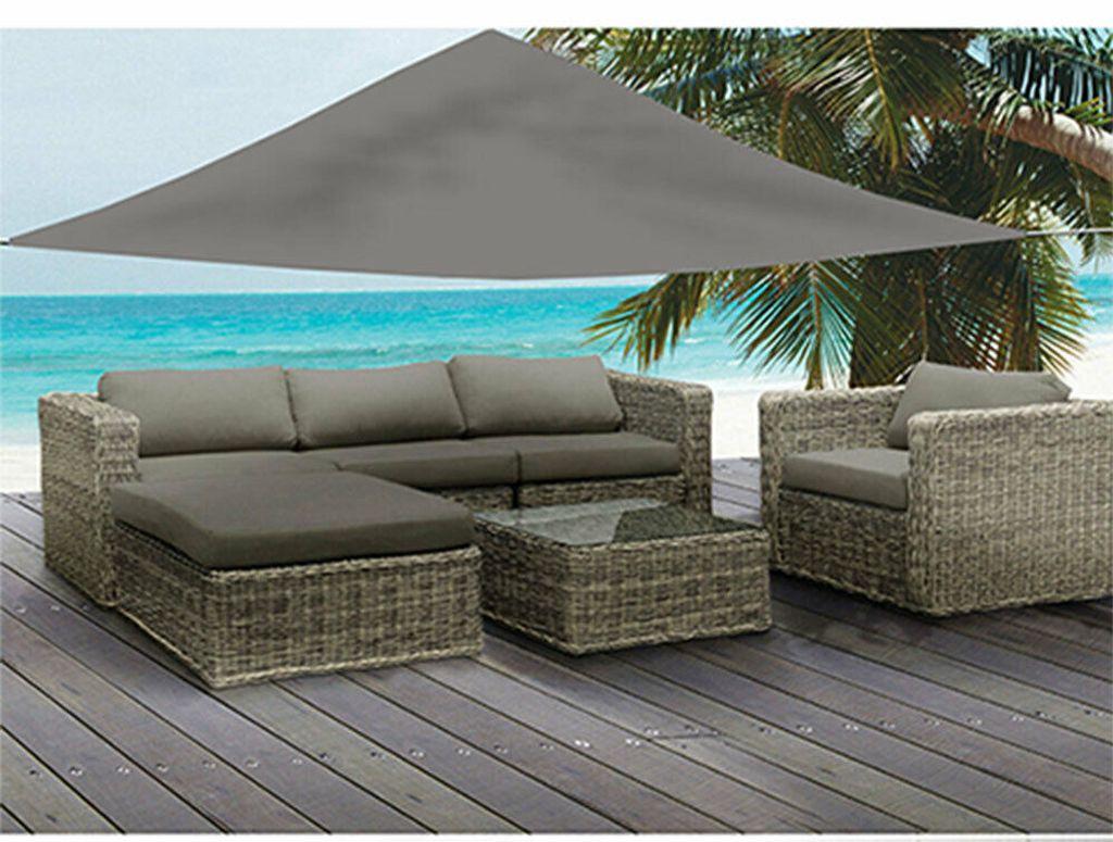 Sonnenschutz GRAU 20,20 x 20,20 Meter Sonnensegel UV Blocker Sonnenschirm  Terrasse Garten Grau