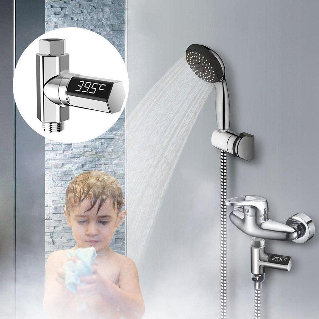 20 Pc Bad Duschen Wasser Dusche Thermometer Led anzeige Wasser Fluss Selbst  Erzeugung Thermometer