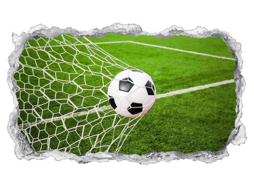 3D Wall Mural Goal Soccer Ball Field Sport