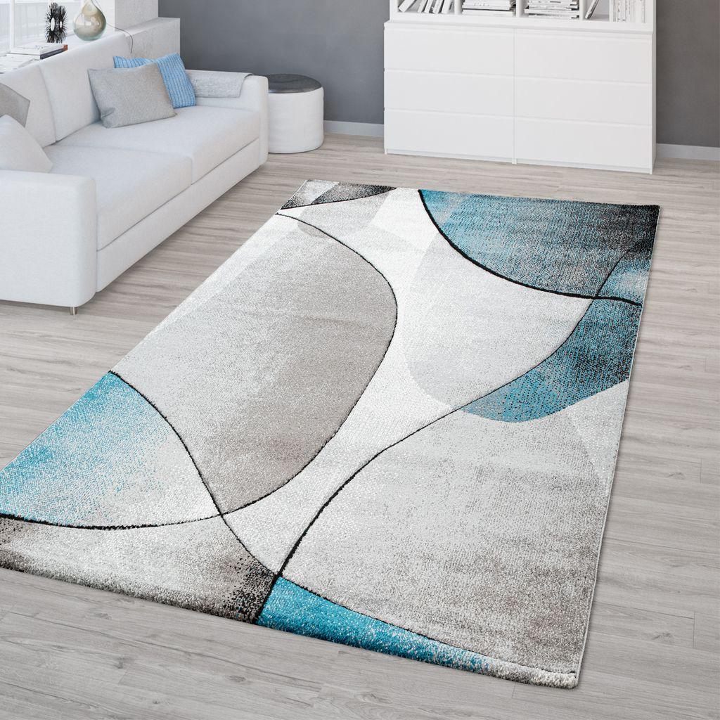Wohnzimmer Teppich Kurzflor 3D Optik Geometrisches Design Modern Braun Beige