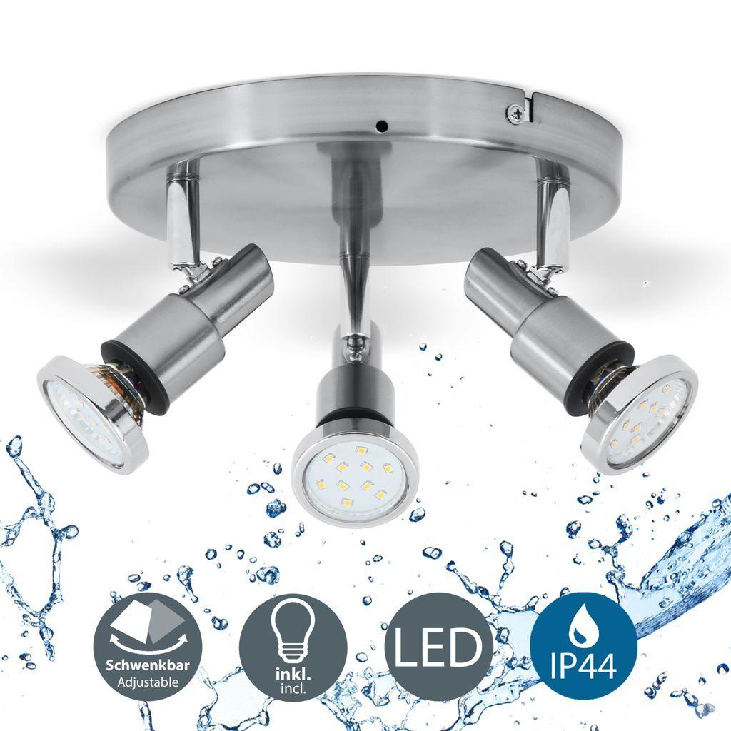 LED Deckenleuchte 20 flammig Badezimmer Leuchte Deckenstrahler inkl. 20W  Leuchtmittel 20 Lumen IP20 B.K.Licht