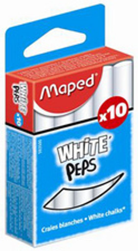 100 Maped Wandtafelkreide COLOR PEPS rund farbig Calciumcarbonat Schreibkreide