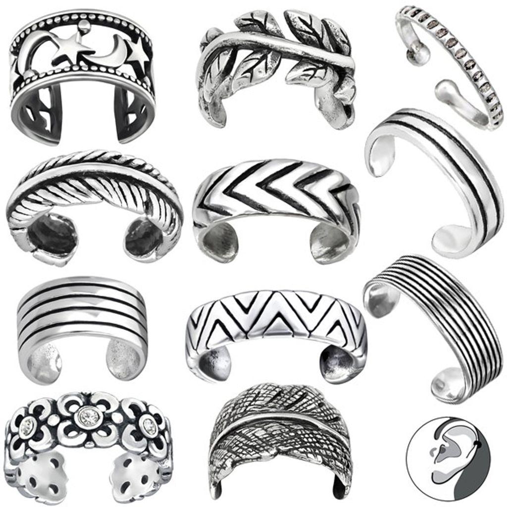 Ohrklemme Silber 925 mit Kreuz Ohrringe Damen Herren Sterlingsilber 1 Stück