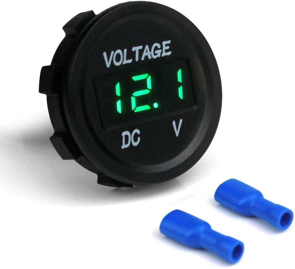 12V DC LED Digitalanzeige Voltmeter Spannungsanzeige für Auto Motorrad LKW Boot