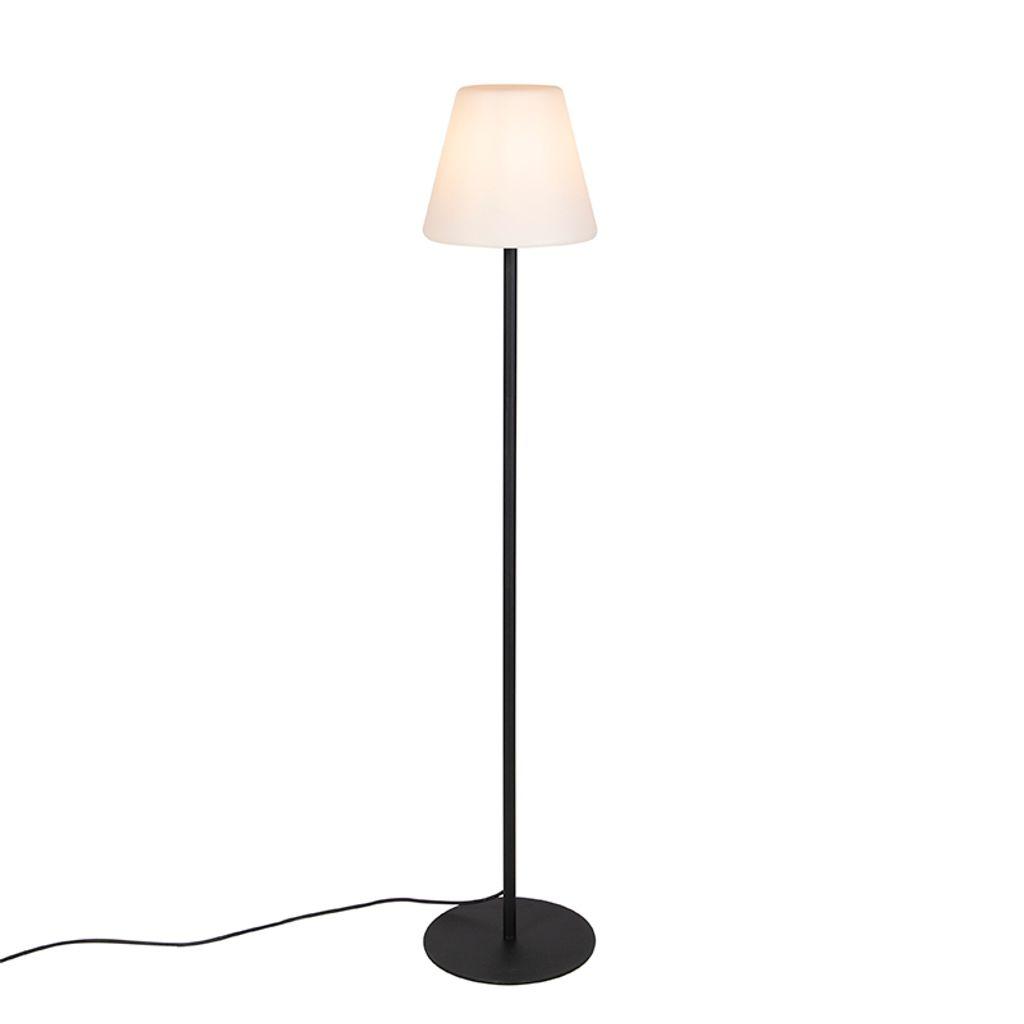 QAZQA   Moderne AußenStehleuchte   Stehlampe   Standleuchte   Lampe    Leuchte schwarz   Virginia   Außenbeleuchtung   Edelstahl Länglich   Oval    LED ...