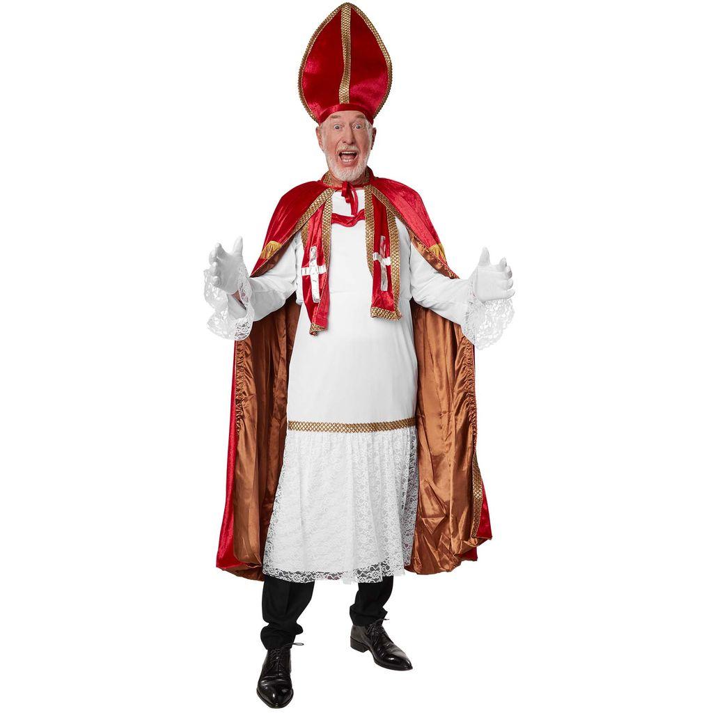 Hochwertiger Bischofstab Nikolaus Stab Gold  Santa Claus Bischof Kostüm Zubehör