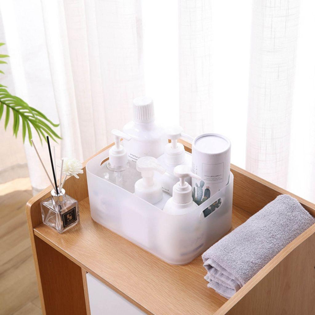Aufbewahrungsbox für Bad, Küche & Büro, Kosmetik Organizer für Schminke,  Durchsichtig, 20.20 cm x 120 cm x20 cm