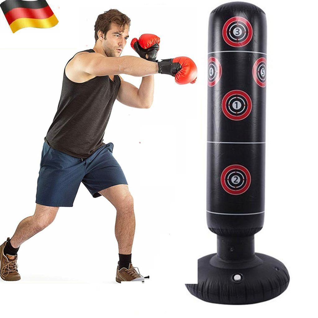 160cm Sport Standboxsack Aufblasbar Boxsack Stehend Boxtraining Boxing Boxsack